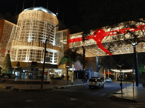 La navidad en el centro comercial